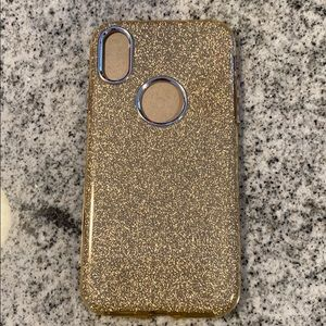 Gold glitter iPhone X case